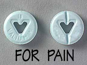 Can you take Valium for pain